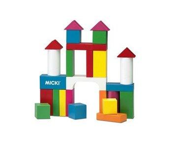 Micki Houten bouwblokken (38 st.)