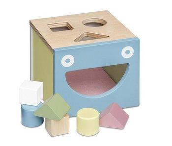 Micki Houten vormenstoof pastel/puzzelkist