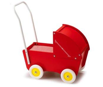 Micki poppenwagen met kap (hout)