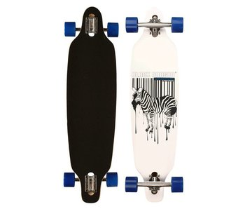 Nijdam black dragon longboard 36' drop-through jungle fever Blauw