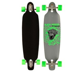 Nijdam black dragon longboard 36' drop-through jungle fever Groen