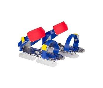 Nijdam Glij-ijzers verstelbaar 'print' kobalt Maat 24-34