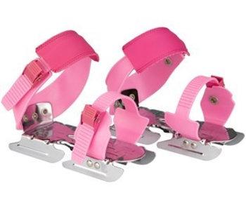 Nijdam Glij-ijzers verstelbaar 'print' Roze Maat 24-34
