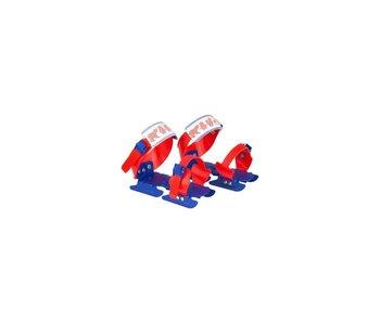 Nijdam Glij-ijzers verstelbaar Rood/Kobalt Maat 24-34