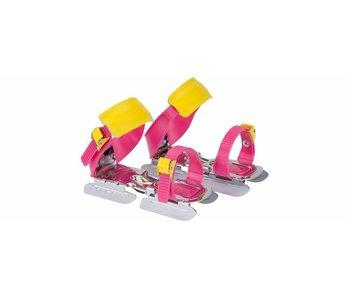 Nijdam Glij-ijzers verstelbaar Roze/Geel Maat 24-34