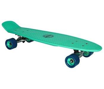 Nijdam Plastic Skateboard 28 Inch - Flipgrip-board - Mintgroen/Blauw