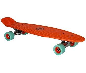 Nijdam Plastic Skateboard 28 Inch - Flipgrip-board - Rood/Mintgroen