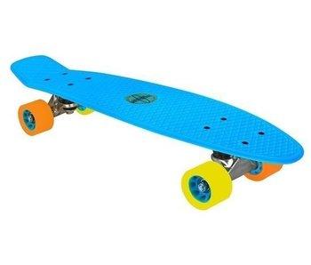 Nijdam plastic skateboard blauw