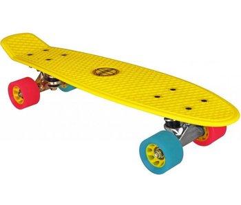 Nijdam plastic skateboard geel