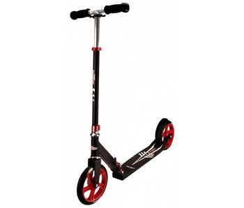 Nijdam Step Autoped - Low Cruiser Scooter zwart/rood - vouwstep