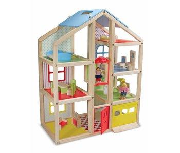 Open poppenhuis met meubeltjes Melissa a Doug