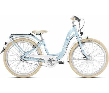 Kinderfiets Skyride 24 inch Aluminium light (City) Blauw 7 versnellingen