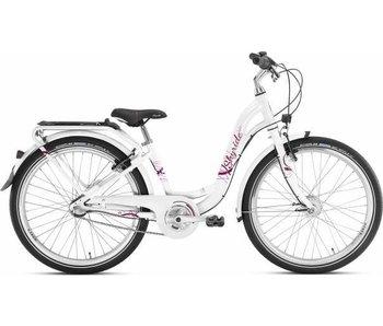 Kinderfiets Skyride 24 inch Aluminium light (City) Wit 7 versnellingen