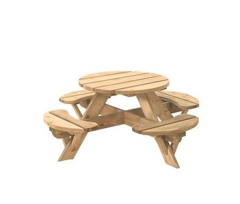 Woodvision Ronde kinderpicknicktafel Jimmy