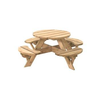 Woodvision Ronde kinderpicknicktafel Jimmy