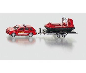 Siku 2549 Rescue auto met aanhanger en hoovercraft 1:50