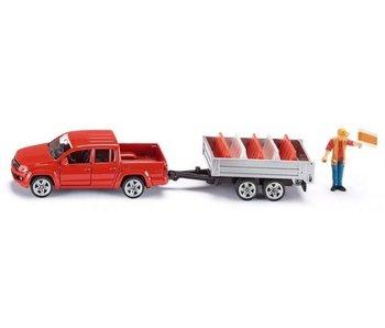 Siku 3543 Pick-Up met aanhanger en afzetblokken 1:50