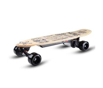 Skatey SKATEY 150 elektrisch skateboard Lithium Wood Art