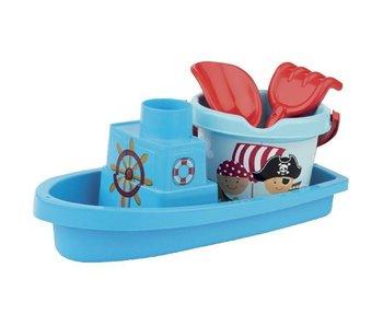 Strandset Piraat Boot 4 Dlg.