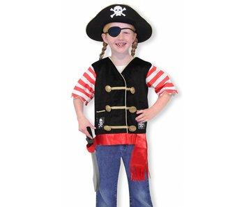 Verkleedkleding piraat Melissa a Doug