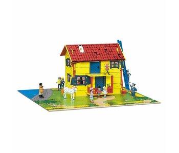 Villa Kakelbont huis met speelmat Micki