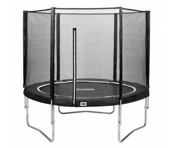 Salta trampoline met veiligheidsnet 213 zwart + gratis trapje