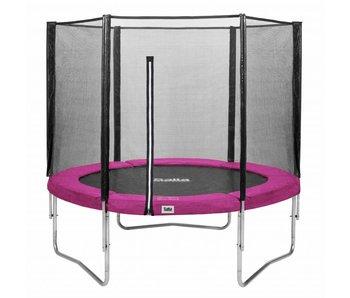 Salta Trampoline met veiligheidsnet 251 roze + gratis trapje
