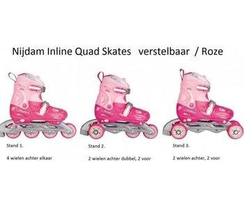 Nijdam Inline Skates Quad Roze