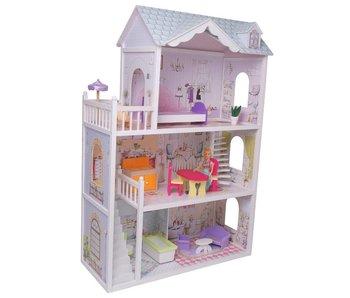 Poppenhuis met meubelset (13-delig)