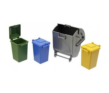 Bruder set vuilcontainers 2607