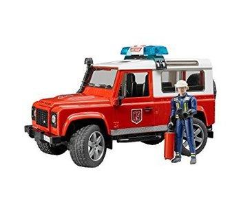 Bruder 2596 - Land Rover Brandweerauto met speelfiguur