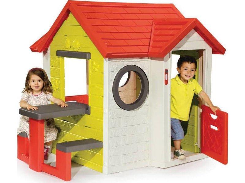 Smoby speelhuisje my house met picknickbank