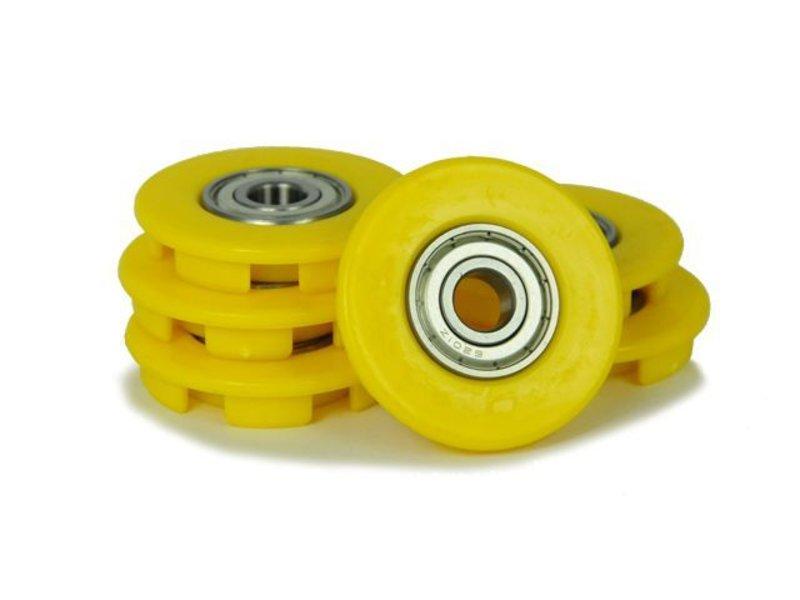 BERG Buddy - Wielkappen 12mm geel (6x)