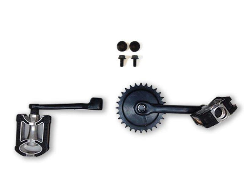 BERG Crank set 140, 28T + pedalen