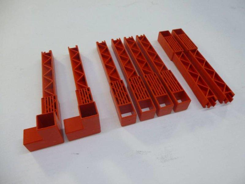 BERG Large Trailer - Paaltjes rood