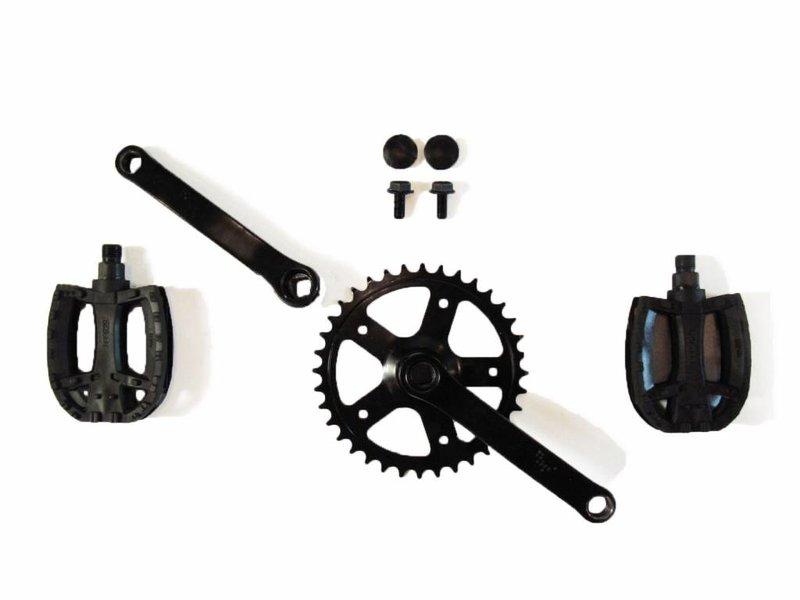BERG Crank set 90, 28T + pedalen