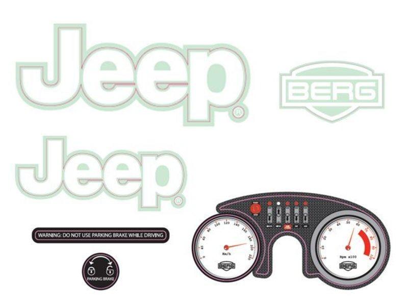 BERG Rally - Stickerset Jeep® Adventure