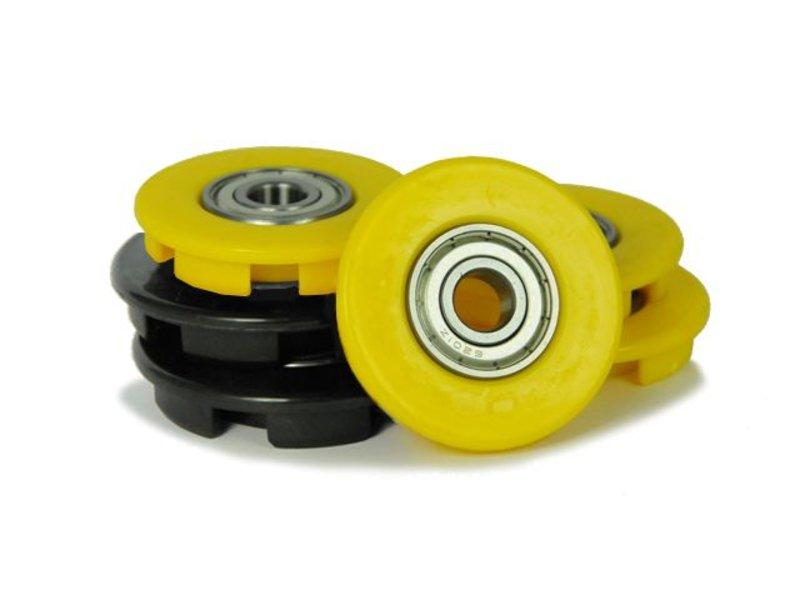 BERG Buddy - Wielkappen 12mm geel (4x) + zwart (2x)