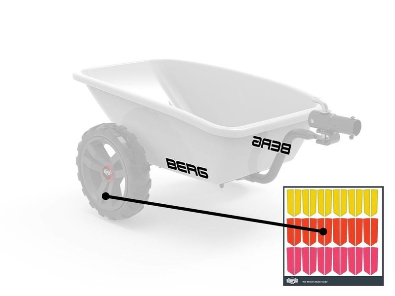 BERG Buzzy - Stickerset voor trailer
