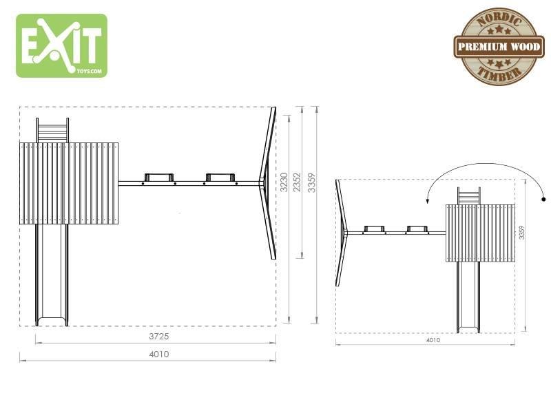 EXIT Aksent Speeltoren met aanbouwschommel (2 zitjes)