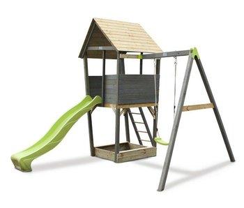 EXIT Aksent Speeltoren met aanbouwschommel (1 zitje)