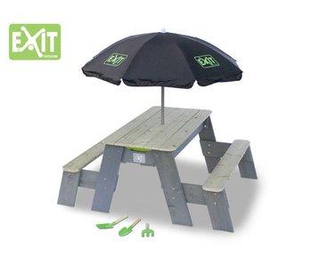 EXIT Aksent Zand-,Water- en Picknicktafel L (2 bankjes) Deluxe