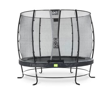 EXIT Elegant trampoline ø253cm with safetynet Economy - black