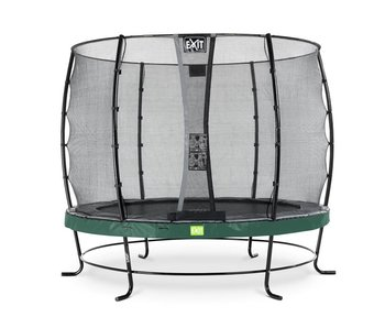 EXIT Elegant trampoline ø253cm with safetynet Economy - green