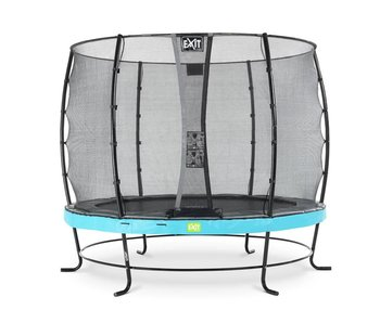 EXIT Elegant trampoline ø305cm with safetynet Economy - blue
