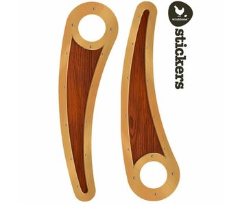 Wishbone Bike Stickerset Woodie