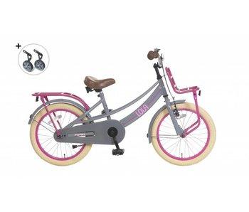 Popal  Lola 20 inch Meisjesfiets Grijs-pink