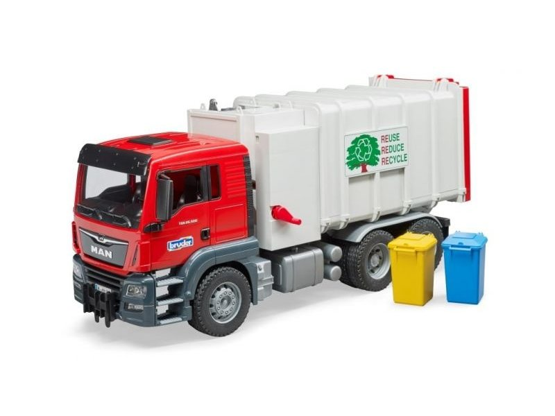 Bruder 3761 - MAN TGS vuilniswagen (zijlader)