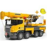 Bruder  Scania telescoopkraan + gratis helm twv €9.95