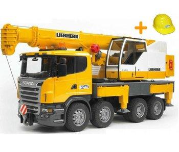 Bruder 3570 - Scania telescoopkraan + gratis Helm twv €9.95
